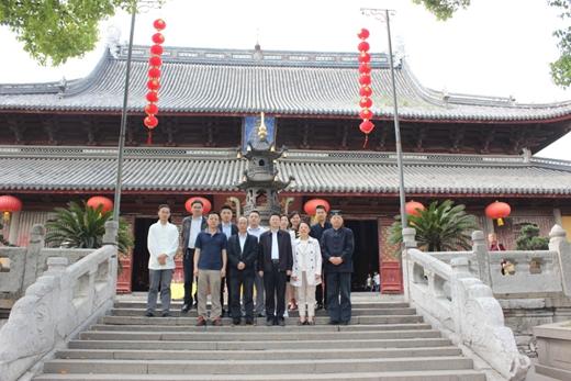 广东省民宗委党组副书记杨正根一行到苏州玄妙观考察