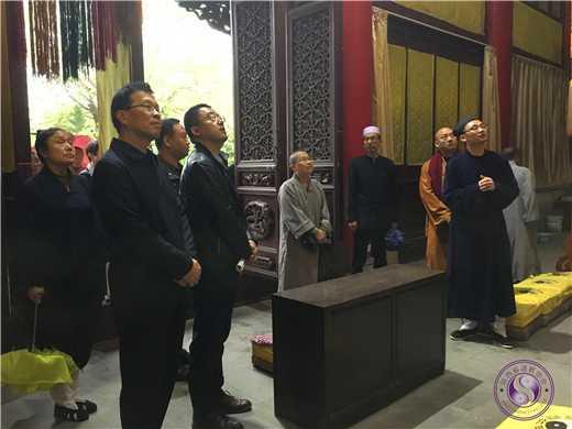 西安市沣东新城组织宗教人士到咸阳中五台道观考察2