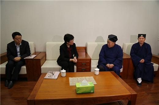 安徽省委常委、统战部部长刘莉到省道教协会走访调研