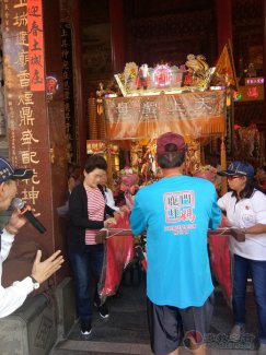 朝宗宫参访团一行前往鹿耳门圣母庙