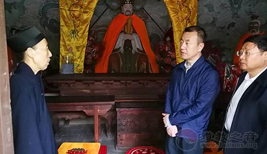 大同市副市长薛明耀一行至帝君庙调研指导工作