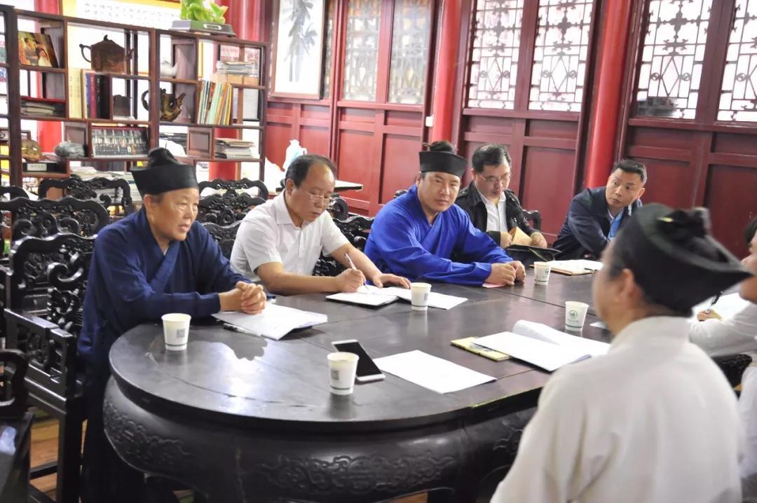 中国道教协会副会长黄信阳携调研组赴武汉长春观调研