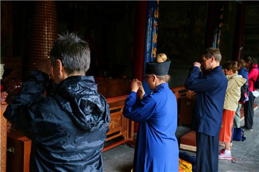 法国道教协会景秀道长一行参访陕西西安八仙宫