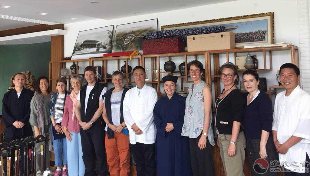 法国道教协会参访团至西安临潼明圣宫参访交流