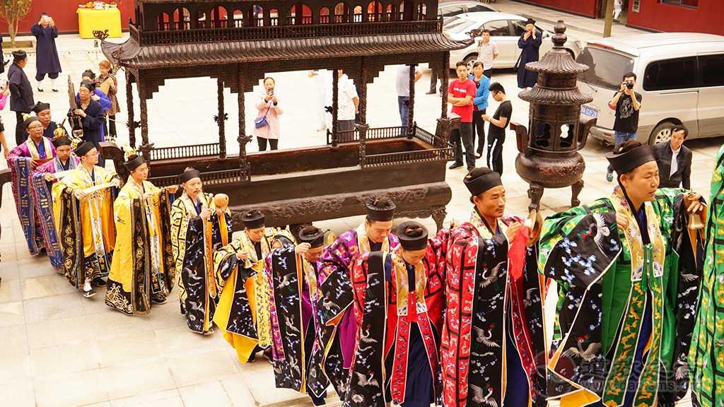 武汉市新洲区青莲观开光庆典举行开