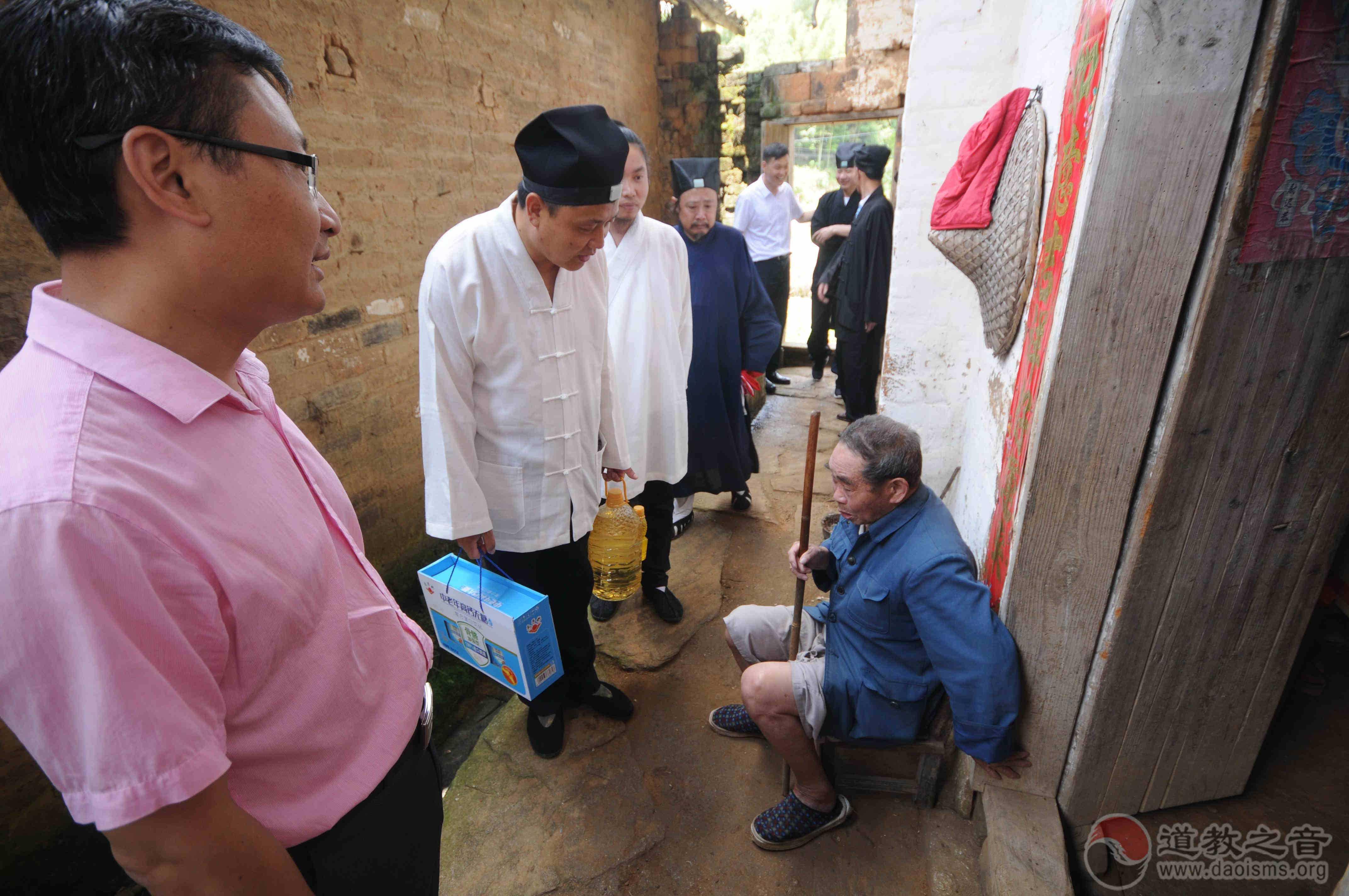 """安徽省安庆市道教协会 在太湖开展""""五教同力•助困脱贫""""活动"""