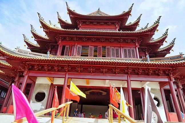 上海社庄庙举行尊神安座仪式_上海-大殿-金相-道教-道观