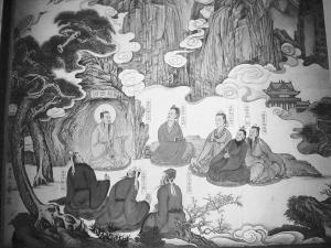 白云观壁画王重阳与全真七子