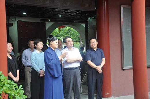 上海市委统战部领导走访钦赐仰殿道观_道观-道教-统战部-浦东新区-部长