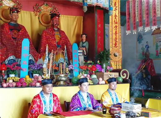 天津津门药王庙第五次皈依仪式于中元节期间顺利举行