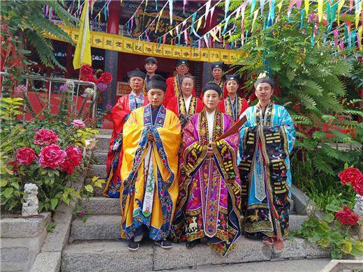 吉林省通化市玉皇阁举行纪念抗战暨反法西斯战争胜利73周年和平祈祷法会