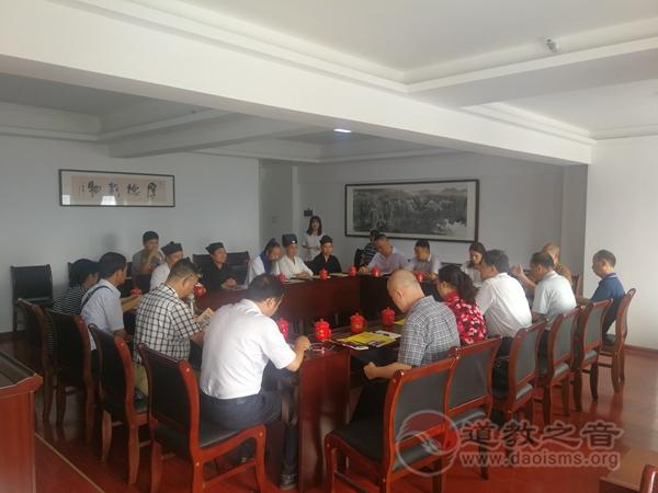 湖南省政协副主席贺安杰走访调研湖南省道教协会工作