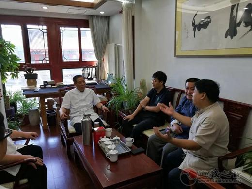 河北省道教协会韩志锋道长一行到中国道教协会拜访交流