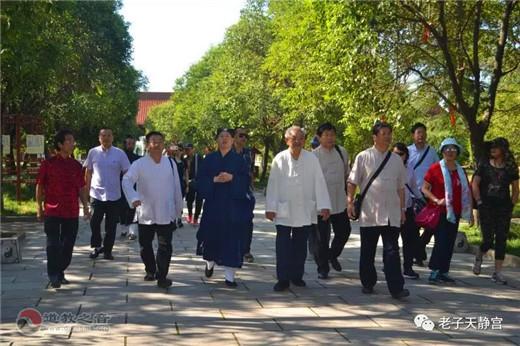 香港国际道教参访团莅临涡阳天静宫参访交流