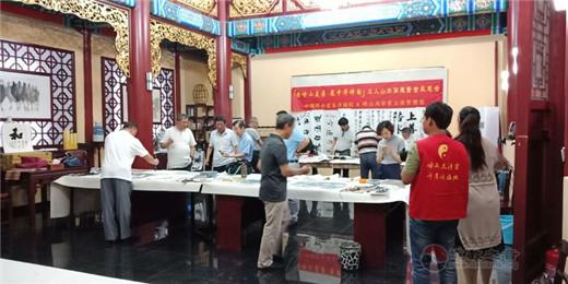 中国崂山道家书画院书画家张宗明代表三位参展画家致辞