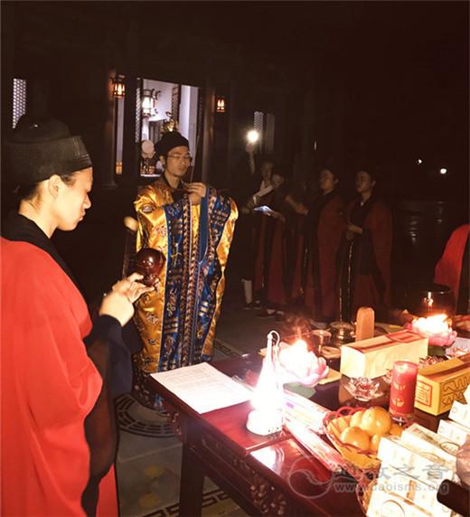 湖南省南岳衡山道院、南岳朱陵宫、邵阳玉清宫举行中秋拜月仪式