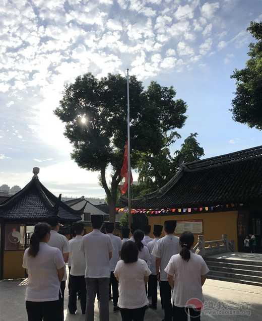 蘇州城隍廟舉行升國旗儀式