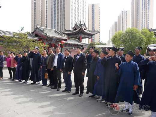 山西省大同市道协在大同真武庙隆重举行升旗仪式