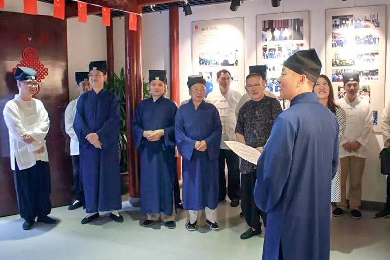 上海市道教協會舉辦紀念改革開放40周年圖片書畫展