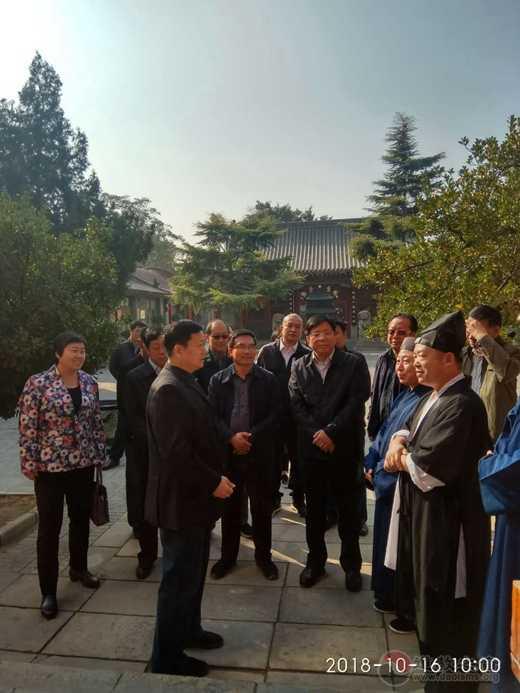 石家庄市政协副主席孟胜林莅临鹿泉十方院调研考察