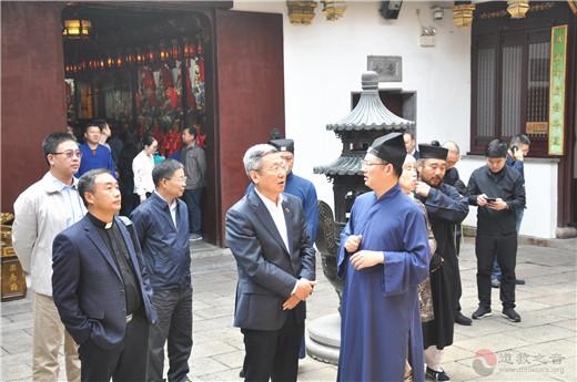 辽宁省政协考察团到上海城隍庙参访调研