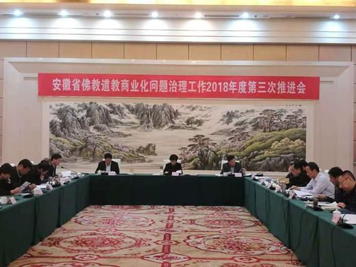 安徽省召开佛教道教商业化问题治理工作2018年度第三次推进会