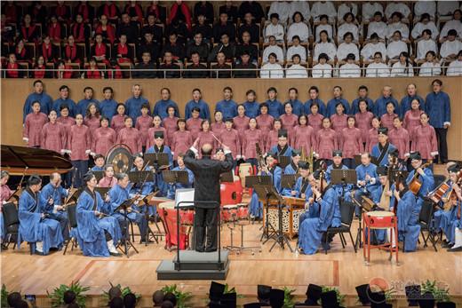 上海城隍庙道乐团参加上海宗教界庆祝改革开放40周年音乐会_上海-道教-城隍庙-演出-改革开放