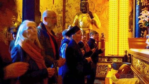 法国道教协会访问团参访上海城隍庙_道教-城隍庙-法国-道长-上海