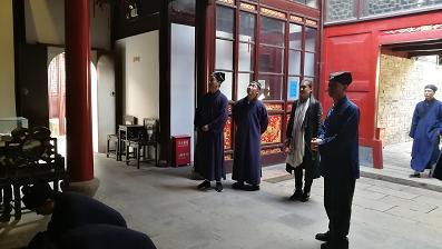 常州花神宫住持李崇明道长带领道众到上海道教协会参访_道教-道长-崇明-上海-领道