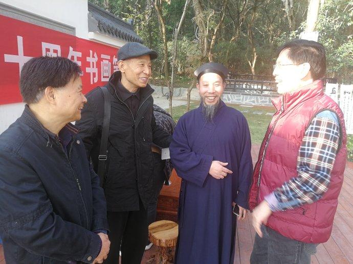 """""""东湖道教界纪念改革开放四十周年书画笔会""""活动在武汉大道观举行"""