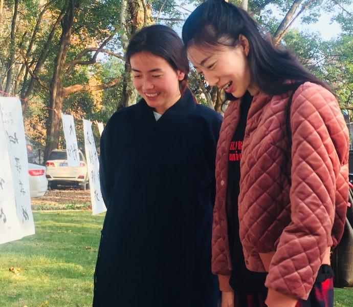 """""""东湖道教界纪念改革开放四十周年书画笔会""""活动在武汉大道观举行。"""
