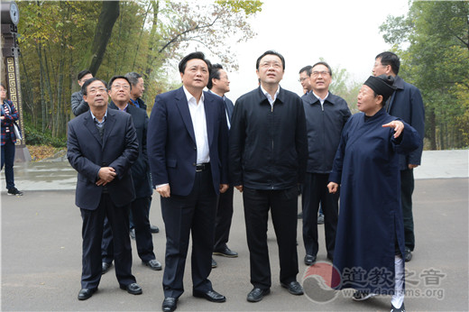 江苏省委常委、统战部部长杨岳考察茅山乾元观