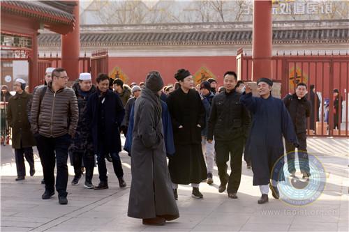 中央统战部第十三期爱国宗教界人士研修班学员等参观北京白云观