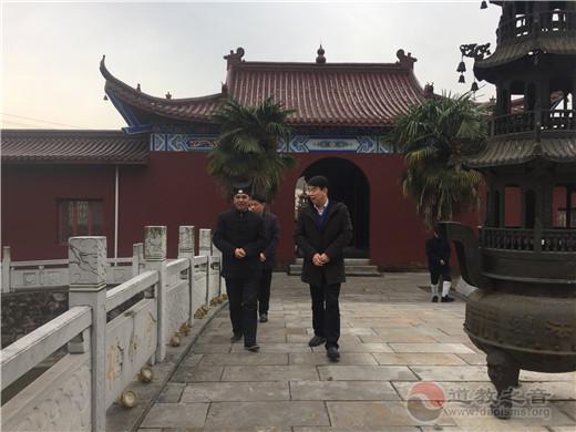 镇江市委常委、宣传部长孙晓南一行赴润州道院调研