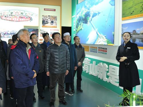陕西省民宗委组织宗教界人士、机关党员干部参观陕西改革开放40周年成就展