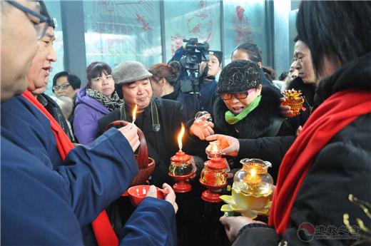"""徐州市道教协会为信众分灵""""新年第一火"""""""