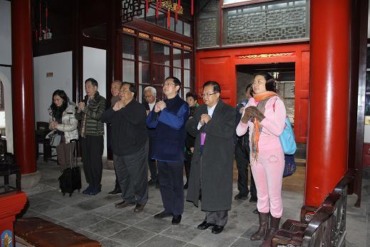 香港道教联合会主席梁德华道长一行访问上海市道教协会