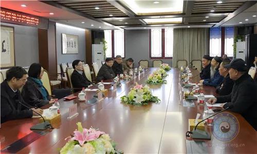 中央统战部副部长、国家宗教局局长王作安一行到中国道教协会走访慰问
