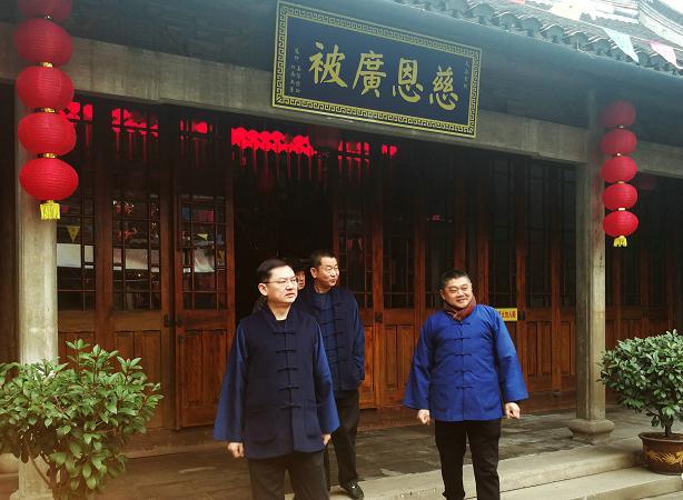 上海市道协会长吉宏忠道长一行节前走访上海宫观