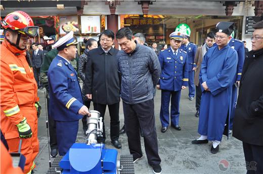 豫园核心区消防联动演练在上海城隍庙举行