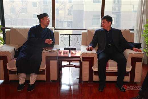 陕西省委统战部常务副部长陈光明一行到陕西省道教协会走访慰问