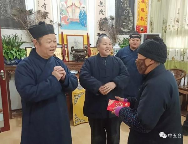 陕西省咸阳市道教协会春节前慰问基层宫观