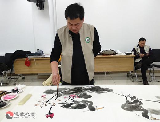 北京市道协书画艺术委员会新春送福到基层