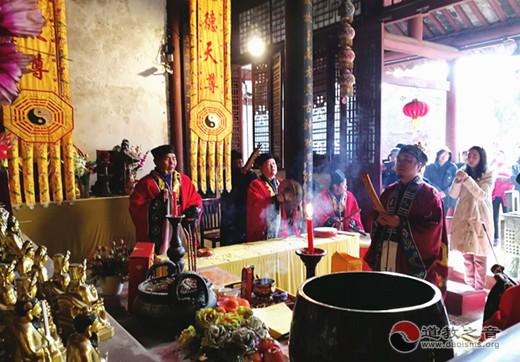 安徽蚌埠涂山禹王宫举办贺新春送春联活动