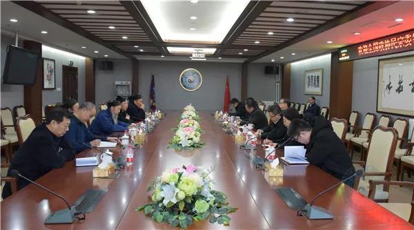 全国政协民宗委主任王伟光一行走访中国道教协会