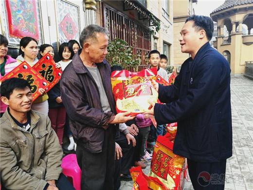 广西道协副会长陈应伟道长春节慰问道众代表