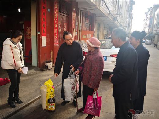 昆明官渡区馨德宫春节前夕开展助残扶贫活动
