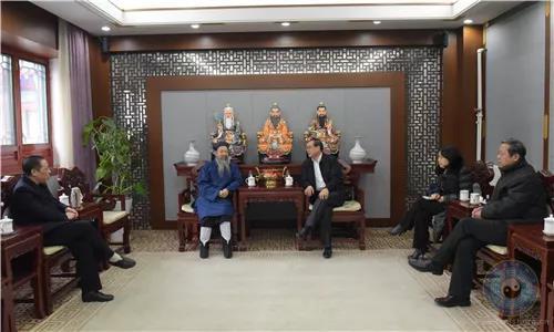 """全国政协副秘书长郭军、""""中宗和""""副秘书长高叶一行走访中国道教协会"""