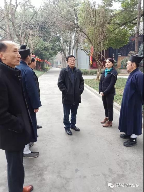 成都市委统战部副部长田野率队调研青羊宫