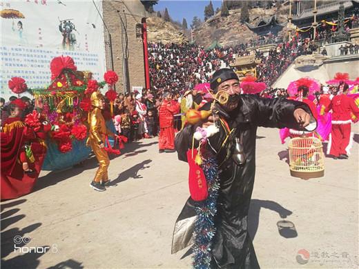 陕西榆阳黑龙潭道观春节文化庙会圆满收官